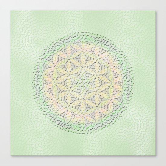 Flower of Life Mandala Canvas Print