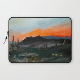 Sunset Over the Superstitions Laptop Sleeve