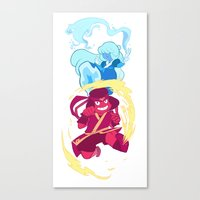 avatar the last airbender Canvas Prints featuring Steven Universe x Avatar The Last Airbender by Matereya