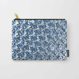 Blue Swirled Steel Carry-All Pouch