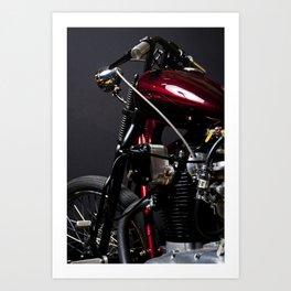 Red Motorcycle #002 Art Print