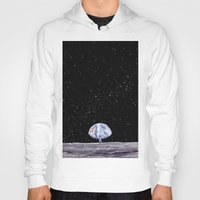 neil gaiman Hoodies featuring Neil Armstrong by Enrico Barin Guarise