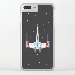 X-Wing Fighter Clear iPhone Case