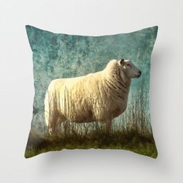 Vintage Sheep Throw Pillow