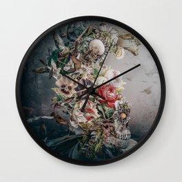 Skull in moonlight Wall Clock
