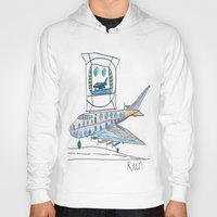 channel Hoodies featuring The Airplane Channel by Ryan van Gogh