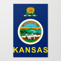 kansas Canvas Prints featuring KANSAS by changsaw