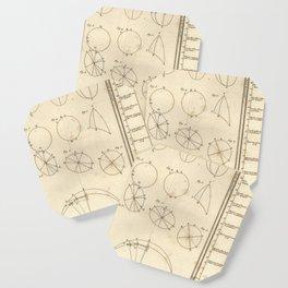 Jérôme Lalande's Astronomie (1771) - Geometric Calculations regarding Planetary Bodies 7 Coaster