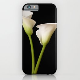 Calla Lily on black iPhone Case