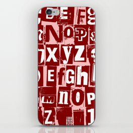Ransom Letters iPhone Skin