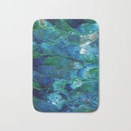 Underwater Flow Acrylic Abstract Painting Bath Mat