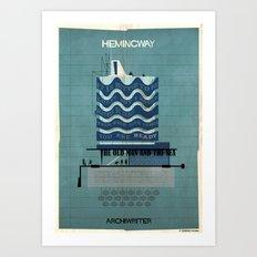 014_ARCHIWRITER_Ernest Hemingway Art Print
