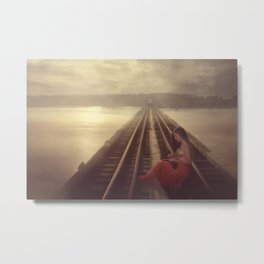 Music on Track Metal Print