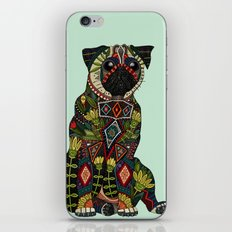 pug love mint iPhone & iPod Skin