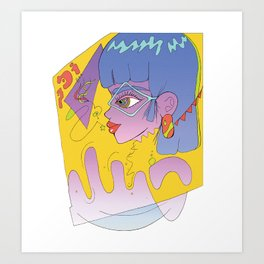 Girl Bop Art Print