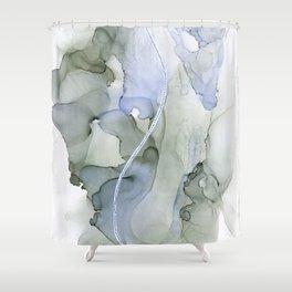 Serenity, Gray Blue Flow Shower Curtain