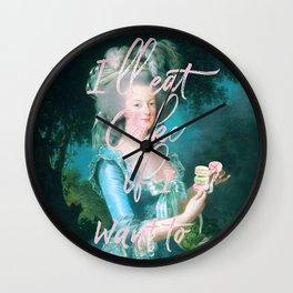 I'll eat cake if I want to Wall Clock