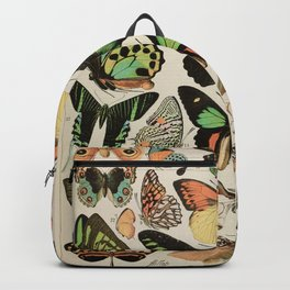 Papillon II Vintage French Butterfly Chart by Adolphe Millot Backpack