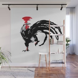 Sign of the zodiac rooster. Traditional Chinese painted. Wall Mural