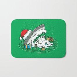 The Santa Shark Bath Mat
