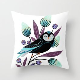 Branch and Bloom Throw Pillow