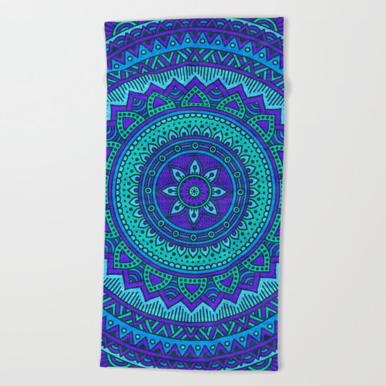 Hippie mandala 55 Beach Towel