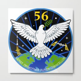 Expedition 56:  Actual Flight Patch Metal Print