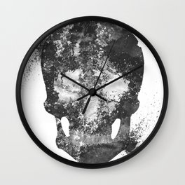 RIP White Skull Wall Clock