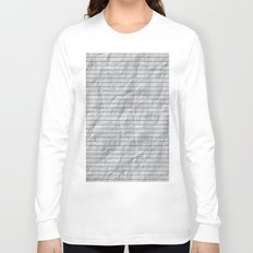 Crumpled Lined Paper Long Sleeve T-shirt