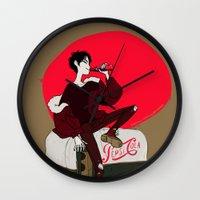 durarara Wall Clocks featuring Pepsi Cola by rhymewithrachel