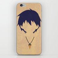gurren lagann iPhone & iPod Skins featuring Minimalist Simon by 5eth