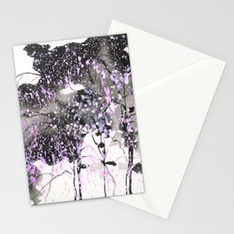 Sumie No.6 weeping willow cherry blossoms Stationery Cards