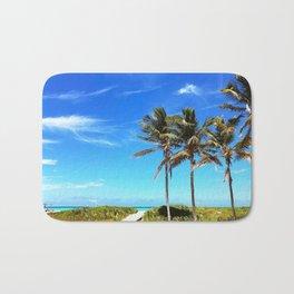 Palm Trees Caribbean Ocean Bath Mat