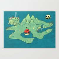 neverland Canvas Prints featuring Neverland by Quinn Shipton