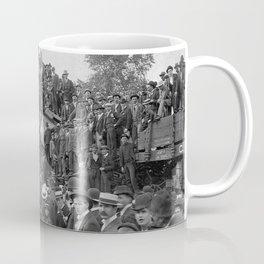 1896 Train Wreck, Buckeye Park in Lancaster, Ohio black and white photography / photograph Coffee Mug