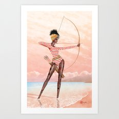 Summer Archer Guava Art Print