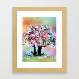 Cherry Blossom Trees Framed Art Print