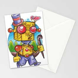robot stroll Stationery Cards