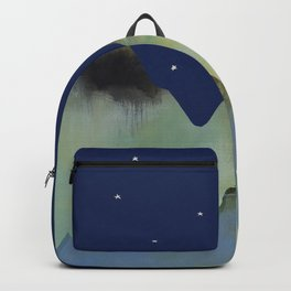 Full Moon Starry Night Sky Mountains Backpack