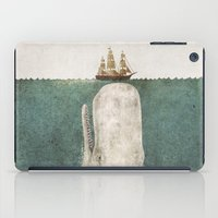 whale iPad Cases featuring The Whale - vintage option by Terry Fan