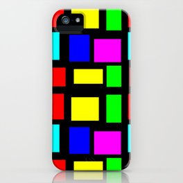 Squares Rectangles Pattern iPhone Case