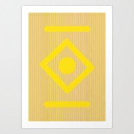Geometric Calendar - Day 34 Art Print