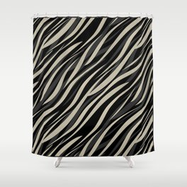 Tiger abstract striped pattern . Shower Curtain