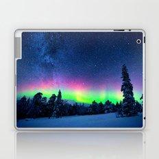 Aurora Borealis Over Wintry Mountains Laptop & iPad Skin