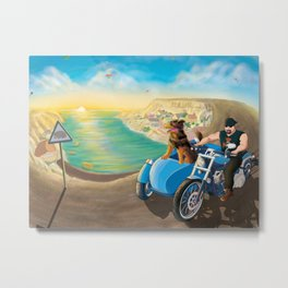 Riding with Rocco Metal Print