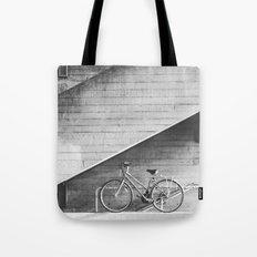 Bike and lines Tote Bag