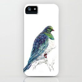 Mr Kereru, New Zealand native wood pigeon iPhone Case