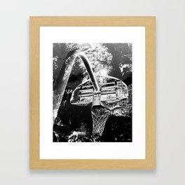Black And White Basketball Art Framed Art Print