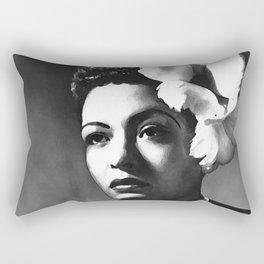 painting of Billie Holiday Rectangular Pillow