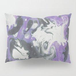 Marbled Ink - Purple Gray & White Pillow Sham